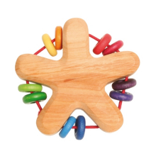 Wooden Star Rattle