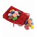 16 Crayon Rocks in a Red Bag