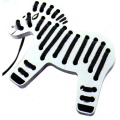Wooden Zebra Lacing toy