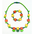 Spring Tulip Necklace & Bracelet Set