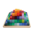 Wooden 100 Piece Stepped Pyramid