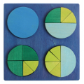 Wooden Fraction Circle